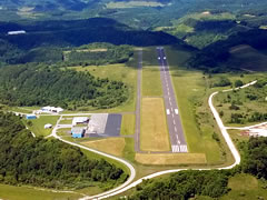 Aerial photo of KSJS (Big Sandy Regional Airport)