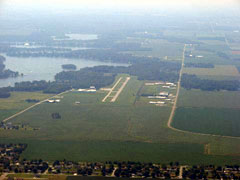 Aerial photo of KMCX (White County Airport)