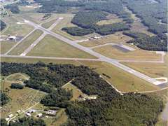 Aerial photo of KAPG (Phillips Army Airfield)