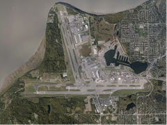 Aerial photo of PANC (Ted Stevens Anchorage International Airport)