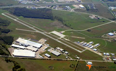 Aerial photo of KTRL (Terrell Municipal Airport)