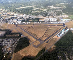 Aerial photo of KAWO (Arlington Municipal Airport)
