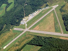 Aerial photo of KOWK (Central Maine Airport of Norridgewock)