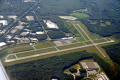 Aerial photo of KSFZ (North Central State Airport)