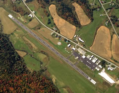 Aerial photo of KMVL (Morrisville-Stowe State Airport)