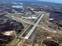 Aerial photo of KCMX (Houghton County Memorial Airport)