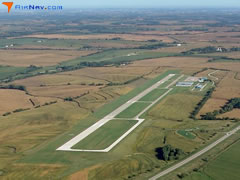 Aerial photo of KPMV (Plattsmouth Municipal Airport)