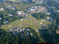 Aerial photo of KDXR (Danbury Municipal Airport)