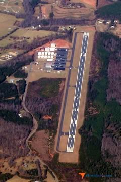 Aerial photo of KFQD (Rutherford County Airport-Marchman Field)