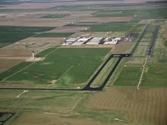 Aerial photo of KFTG (Front Range Airport)