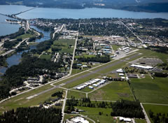 Aerial photo of KSZT (Sandpoint Airport)
