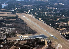 Aerial photo of KSOP (Moore County Airport)