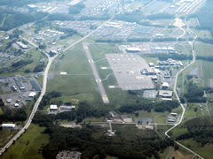 Aerial photo of KMUI (Muir Army Airfield (Fort Indiantown Gap))