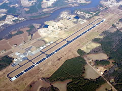 Aerial photo of KRWI (Rocky Mount-Wilson Regional Airport)