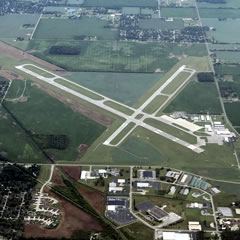 Aerial photo of KMIE (Delaware County Regional Airport)