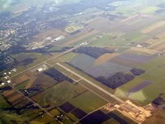 Aerial photo of KPEO (Penn Yan Airport)