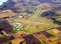 Aerial photo of KDKK (Chautauqua County/Dunkirk Airport)