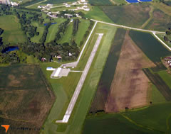 Aerial photo of 8C4 (Mathews Memorial Airport)