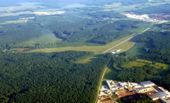 Aerial photo of KLVL (Brunswick County Airport)