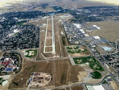 Aerial photo of KCYS (Cheyenne Regional Airport/Jerry Olson Field)