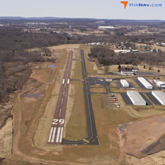 Aerial photo of KUKT (Quakertown Airport)