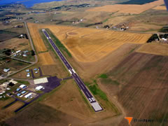 Aerial photo of KMBG (Mobridge Municipal Airport)