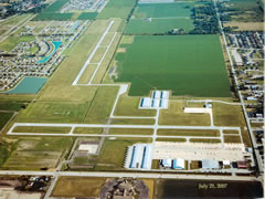 Aerial photo of KIGQ (Lansing Municipal Airport)