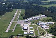 Aerial photo of KFWQ (Rostraver Airport)