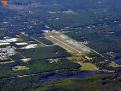 Aerial photo of 2R4 (Peter Prince Field Airport)