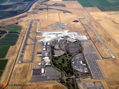 Aerial photo of KSMF (Sacramento International Airport)