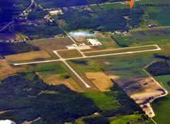 Aerial photo of KAMN (Gratiot Community Airport)