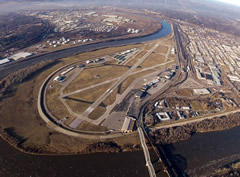 Aerial photo of KMKC (Charles B. Wheeler Downtown Airport)