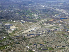 Aerial photo of KBUF (Buffalo Niagara International Airport)