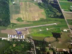 Aerial photo of KPWC (Pine River Regional Airport)