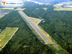 Aerial photo of 5S6 (Cape Blanco State Airport)