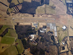 Aerial photo of KHWY (Warrenton-Fauquier Airport)