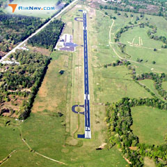 Aerial photo of KDEQ (J Lynn Helms Sevier County Airport)