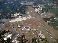 Aerial photo of KBDL (Bradley International Airport)