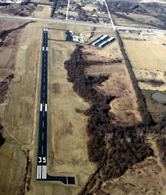 Aerial photo of KLRY (Lawrence Smith Memorial Airport)