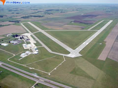 Aerial photo of KMCW (Mason City Municipal Airport)