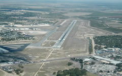 Aerial photo of KMFE (Mc Allen Miller International Airport)