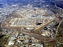 Aerial photo of KORD (Chicago O'Hare International Airport)