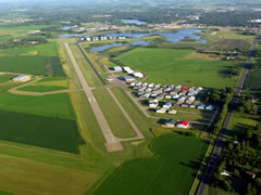Aerial photo of KRNH (New Richmond Regional Airport)