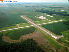 Aerial photo of KPRG (Edgar County Airport)