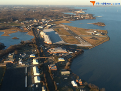 Aerial photo of KNYG (Quantico Marine Corps Airfield / Turner Field)