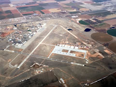 Aerial photo of KCVS (Cannon Air Force Base)