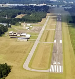 Aerial photo of KUBS (Columbus-Lowndes County Airport)