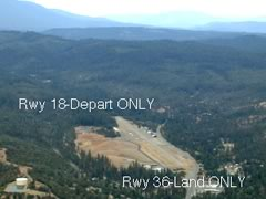 Aerial photo of O54 (Lonnie Pool Field/Weaverville Airport)