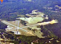Aerial photo of KTOI (Troy Municipal Airport at N Kenneth Campbell Field)