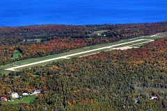 Aerial photo of KMCD (Mackinac Island Airport)